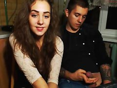 Amateur Russian Brunette on Webcam More webcamgirls