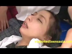 Japanese Gangbang In Classroom Head Shaved While Fucked By Many Guys