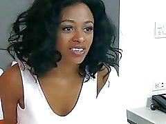 Bawdy ebony teenie desires to endure wild act