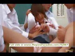 Akiho Yoshizawa innocent Chinese teacher does blowjob