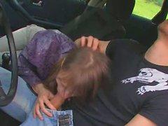 18yo russian girl copulated on the car