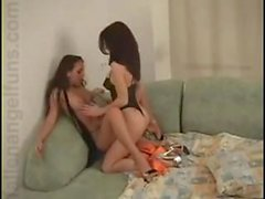 Katalin and Stephanie in bed
