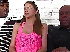 Brooklyn Chases First Interracial Gangbang