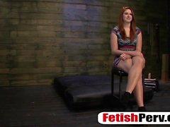 Redhead basement casting for bondage hardcore sex scene