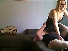 Barare moglie maturo siede sulla sua faccia