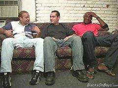 gli uomini di colore condividono la uomo bianco divertenti