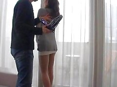 Japanese gal in ripped pantyhose get cunt toyed