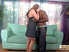 Nasty sugar mummy finds herself a black cock to play with