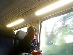 openbare masturbatie in trein, bus