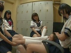 Japanese Lesbian Sock Domination