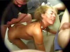 Blonde girl is submissive and does what he says and gets nailed in all holes