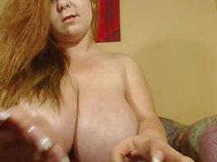 Huge tits on beautiful camgirl