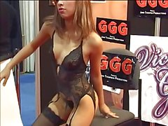 Hot sexy strip dance in party