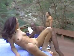 Cytherea with Two Massive Black Cocks (Big Squirting)
