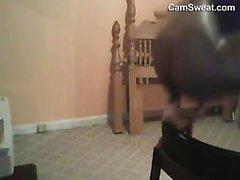 Black Girl Teasing Her Body