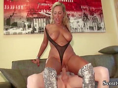 German Mother Fucks Step-Son with 27cm Monster Cock