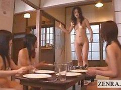 Peak into a nudist Japanese futanari dickgirl village