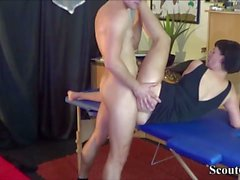 German MILF Seduce Massage Teen to Fuck her Anal