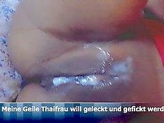 Thai Thailand Esposa Mulher cum buceta