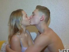 the sex begins with a hot make out session