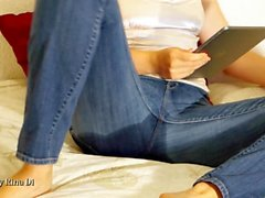 Jeans Wetting On Bed