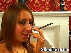 Kinky Whore Seducively Pervert Smoking