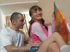 18yo russian chick seduced and banged