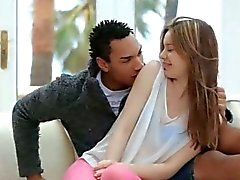 Beautiful euro chick fucking with black
