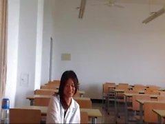 Chinese girl and white teacher