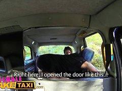 Female Fake Taxi Female lesbian cabbies get downright dirty