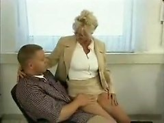 Milf gets her glasses spermed - watch part2