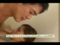 Mihiro Chinese girl is tied up and guys tease her pussy