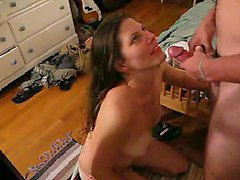Hot Girl Blows Her Man For Tacky Lotion