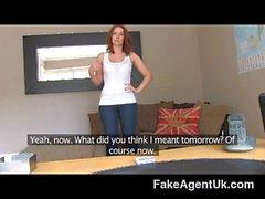 FakeAgentUK - Sexy redhead gets creampie