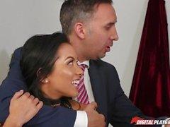 DP Star 3 - Brunette Pornstar Morgan Lee Deep Throat Blowjob