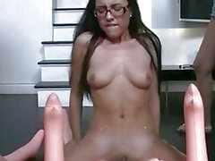Poor pledgers strapon fucked n oral orgy