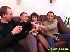 Mature Woman Having Sex With Four Guys