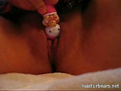 Real big boobs Milf Renata with funny toy