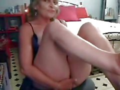 My kinky hot mum having fun on web cam. Stolen video
