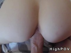 Amateur babe sucking monster cock pov