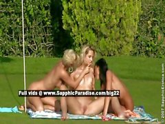 Debby and Jenny and Aneta lesbo babes fingering