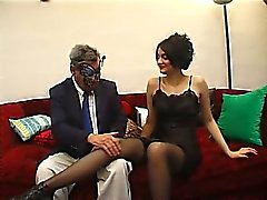 the Melanie s pussy touched by an old guy