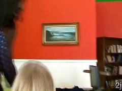 Blonde cougar gets smashed by a big black businessman