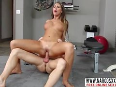 Slacker Aunt August Ames Brunnete Likes Hard-Core Fuck