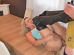 German blonde MILF is cum thirsty - visit realfuck24