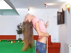 The most erotic beauty on billiards