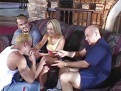 Horny blonde wife gets drilled hard in front of her hubby
