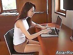 Sexy Asian Girl Teasing Her Panties
