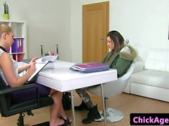 Auditioning lesbian pussylicks euro agent