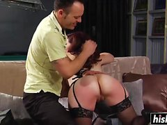Desirable redhead babe likes to get spanked